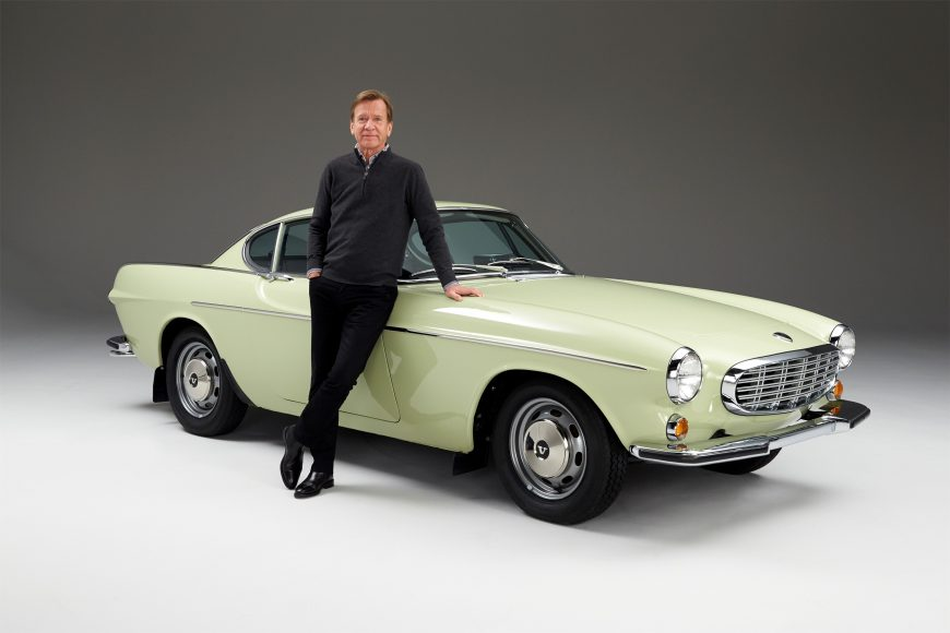 Håkan Samuelsson, President & CEO Volvo Car Group, with his 1967 Volvo 1800 S