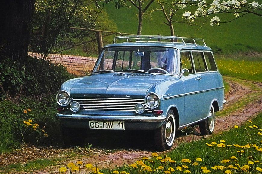 Compact spaceship: 1963 Opel Kadett A Caravan.