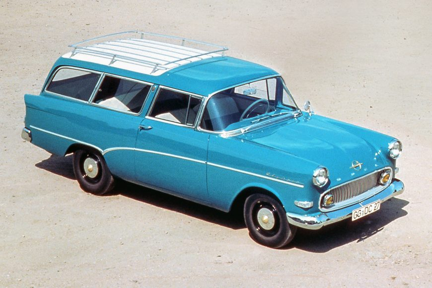Leisure vehicle: 1958 Opel Olympia Rekord P1 Caravan.